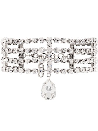 Alessandra Rich crystal-embellished Choker Necklace