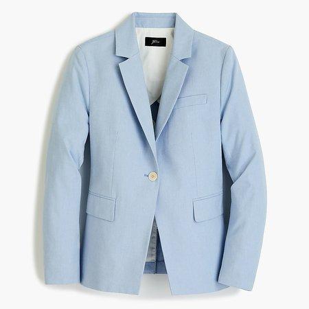 J.Crew: Slim Single-button Blazer In Italian Cotton For Women