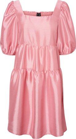 Maya Puff Sleeve Tiered Dress