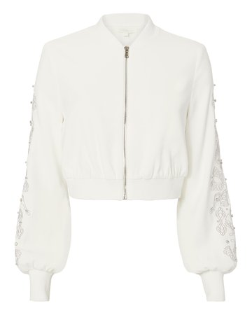 Jonathan Simkhai Crystal Embroidered Bomber Jacket