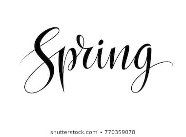 spring text images - Google Search