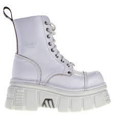 new rock platform boots white - Google Search
