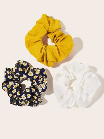 Black Friday 2020   3pcs Ditsy Floral Print Hair Tie   ROMWE USA