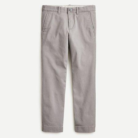 J.Crew: Boys' Chino Pant Grey In Stretch Skinny Fit