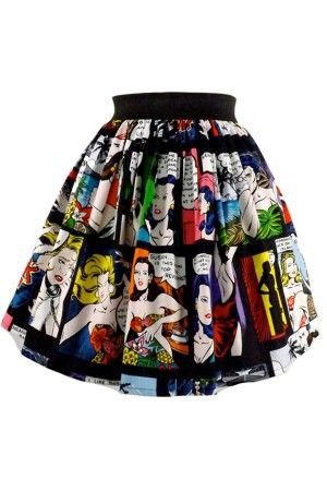 Retro Comic Skirt