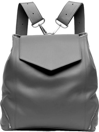 Holly & Tanager - The Professional Leather Backpack Purse In Grey