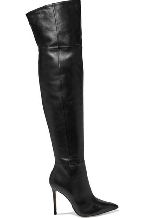 Gianvito Rossi | 105 leather over-the-knee boots | NET-A-PORTER.COM