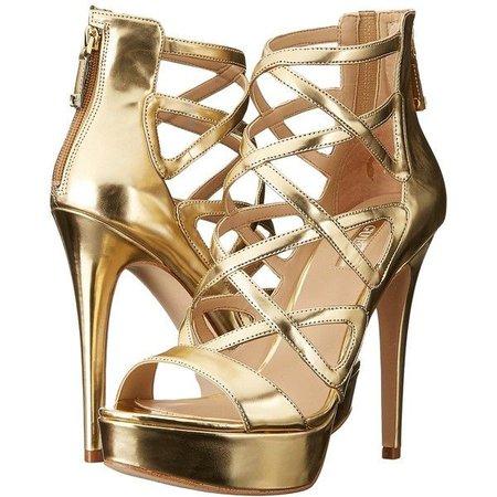 Gold Platform Sandal Heels