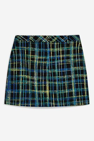Boucle Check Skirt - Skirts - Clothing - Topshop