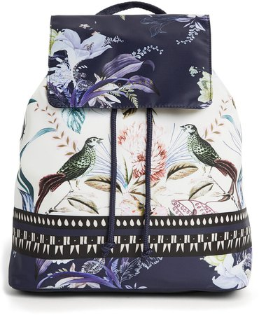 Decadence Print Packable Backpack