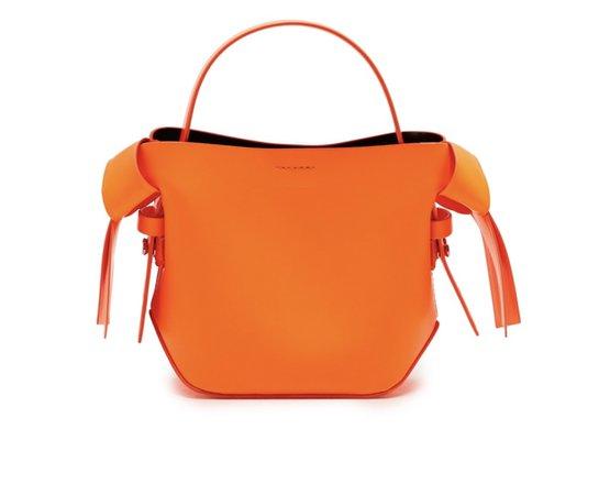 bright orange bag