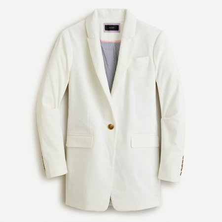 J.Crew: Long Parke Blazer In Corduroy For Women