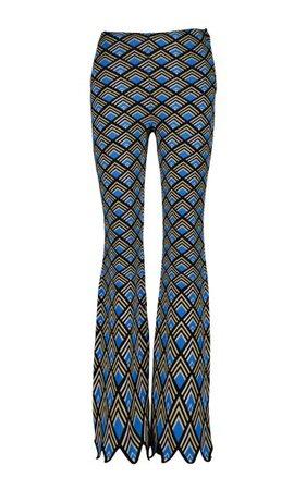 Geometric Jacquard Flared Pants By Paco Rabanne | Moda Operandi