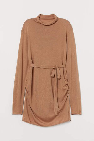 MAMA Fine-knit Sweater - Beige