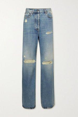 Blue Distressed organic boyfriend jeans | Gucci | NET-A-PORTER