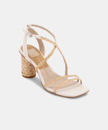NICO HEELS IN NATURAL MULTI – Dolce Vita