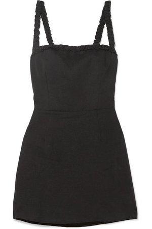 Reformation | Janie ruffled linen mini dress | NET-A-PORTER.COM