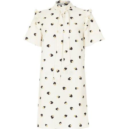 Cream print swing dress - Swing Dresses - Dresses - women