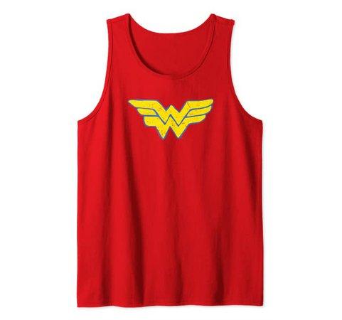 Amazon.com: Wonder Woman Rough Wonder Tank Top: Clothing