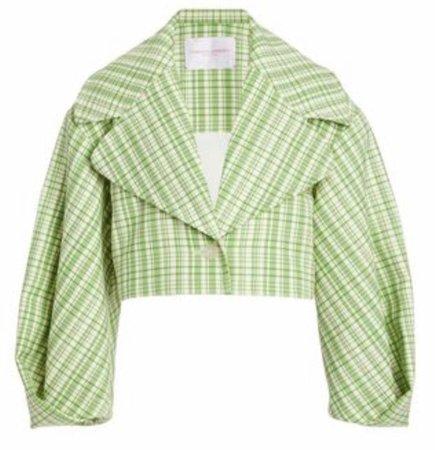 Pastel Green Cropped Blazer