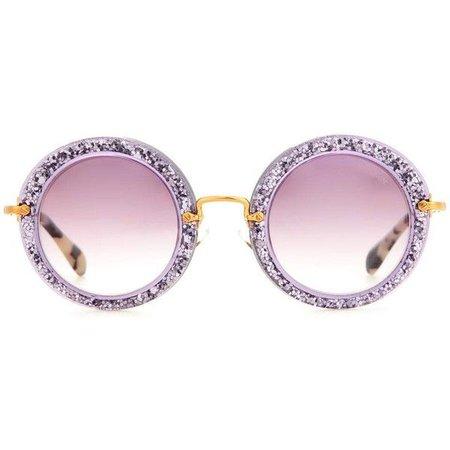 miu miu sunglasses purple round - Google Search