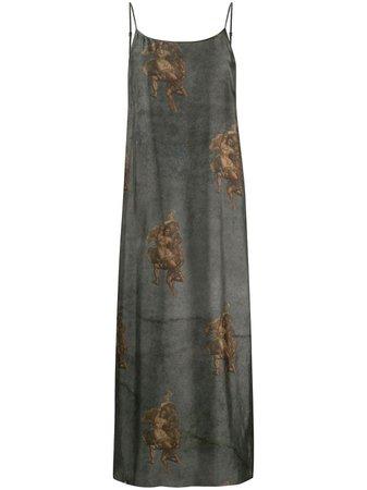 Uma Wang Angel Print Slip Dress - Farfetch