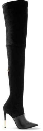Amazone Suede And Leather Thigh Boots