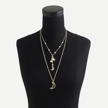 J.Crew: Celestial Charm Layered Necklace For Women