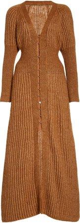 Cult Gaia Justine Ribbed-Knit Midi Dress