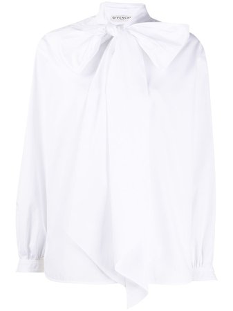Givenchy, Long pussy-bow detail blouse