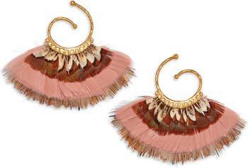 Gas Bijoux Small Buzios Feather Earrings | Nordstrom