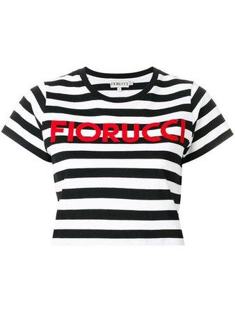 Fiorucci Striped Cropped T-Shirt | Farfetch.com