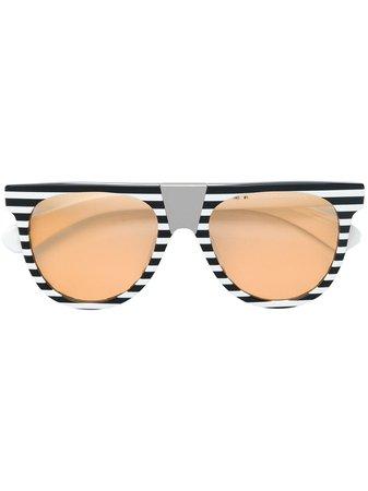 Calvin Klein 205W39nyc Striped Frame Sunglasses - Farfetch