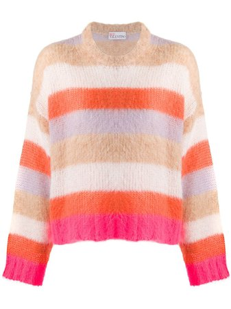 RedValentino Striped Jumper - Farfetch
