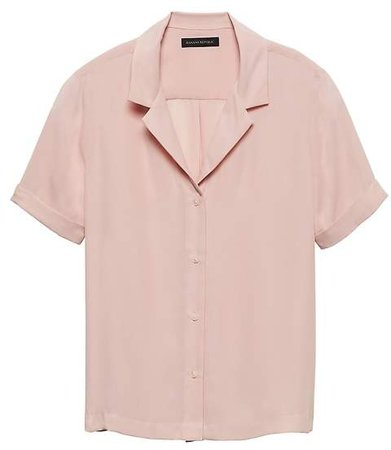 Relaxed Camp-Collar Shirt