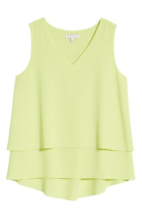 Chaus Tiered V-Neck Blouse | yellow