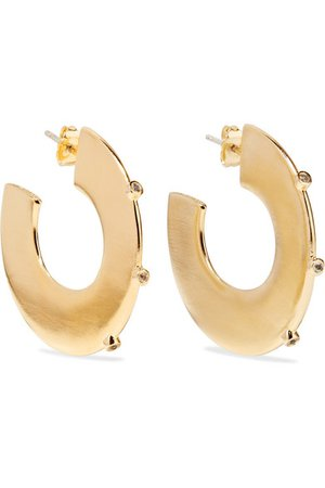 ELIZABETH AND JAMES Joni gold-plated topaz hoop earrings