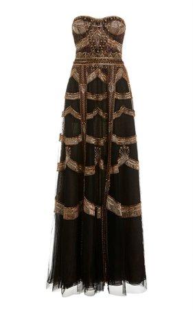 Patch Platinum Gown by Cucculelli Shaheen | Moda Operandi