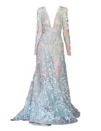blue elie saab gown