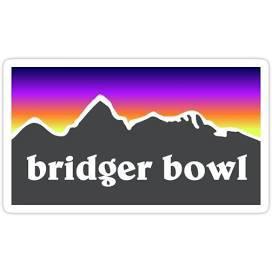 Bridger bowl sticker - Google Search