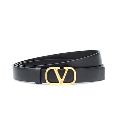 Valentino Garavani Go Logo leather belt