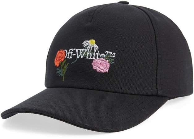 Embroidered Canvas Baseball Cap