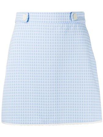 Miu Miu A-line Gingham Seersucker mini-skirt