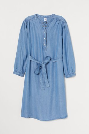 MAMA Lyocell Dress - Blue
