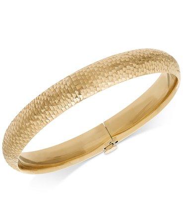 Macy's 14k Gold Mermaid Textured Bangle Bracelet