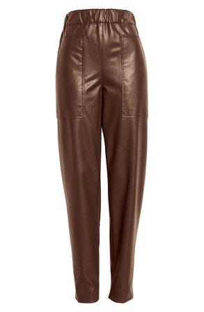 Tibi Faux Leather Jogger Pants | Nordstrom