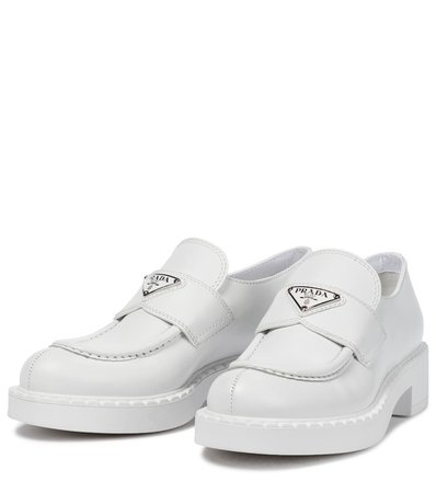Prada - Leather loafers | Mytheresa