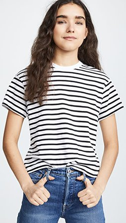 ATM Anthony Thomas Melillo Short Sleeve Stripe Boy Tee | SHOPBOP