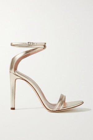 Gold Metallic leather sandals | Giuseppe Zanotti | NET-A-PORTER