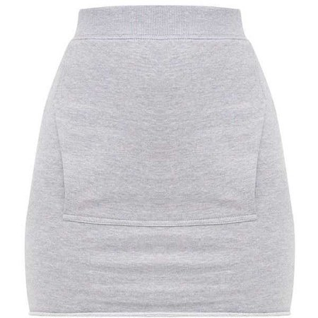 Grey Sweat Pocket Mini Skirt